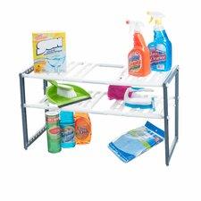 """15.33"""" Adjustable Under Sink Two Shelf Shelving Unit"""