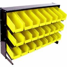 24 Bin Parts Storage Rack Trays