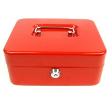 "8"" Key Lock Cash Box with Coin Tray"