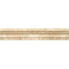 """Chair Rail 2"""" x 12"""" Marble Polished Tile in Cappuccino"""