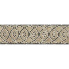 "Forge Listello Baroque 1.9"" x 6.5"" Porcelain Mosaic Tile in Beige"