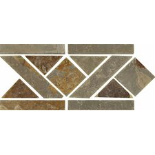 """12"""" x 6"""" Stone Mosaic Liner Tile in Multicolor"""