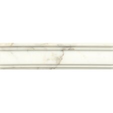 "Honed Marble  12"" x 3""  Chandra Crown Molding Tile in Calacatta Oro"