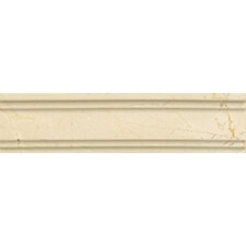"Honed Marble 12"" x 3"" Chandra Crown Molding Tile in Crema Marfil"