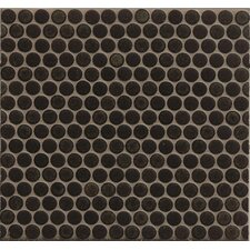 """360° Penny Rounds 12"""" x 12"""" Porcelain Mosaic Tile in Charcoal"""