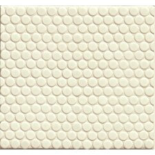 """360° Penny Rounds 12"""" x 12"""" Porcelain Mosaic Tile in White Matte"""