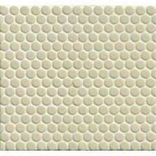 """360° Penny Rounds 12"""" x 12"""" Porcelain Mosaic Tile in Off White"""
