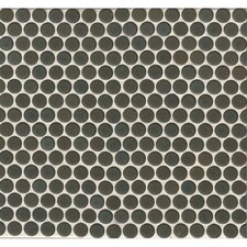 """360° Penny Rounds 12"""" x 12"""" Porcelain Mosaic Tile in Iron"""
