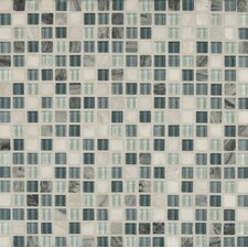 """Eclipse 0.63"""" x 0.63"""" Glass Mosaic Tile in Marina"""