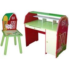 "Slight Edge 9.7"" W Writing Desk with Chair"
