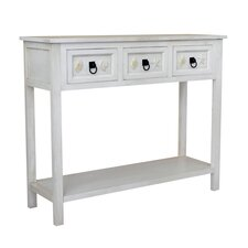 Coastal 3 Drawer Console Table