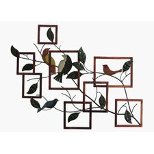Birds on Branches Sculpture Wall Decor