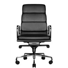 Clyde High-Back Leather Office Chair