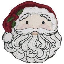 Christmas Santa Face Red/White Area Rug