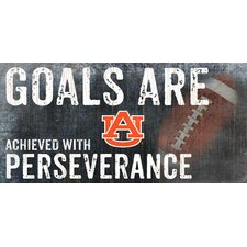 NCAA Goals and Perseverance Graphic Art Plaque