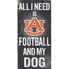NCAA Football and My Dog Graphic Art Plaque