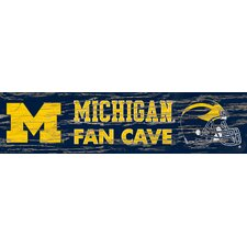 NCAA Distressed Fan Cave Graphic Art Plaque