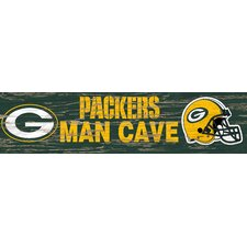 NFL Distressed Man Cave Graphic Art Plaque