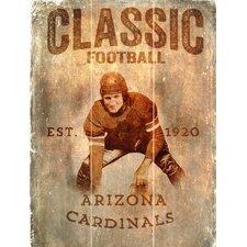 NFL Vertical Classic Football Graphic Art Plaque