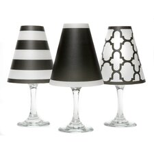 "4.5"" Nantucket Paper Wine Glass Lamp Shade (Set of 6)"
