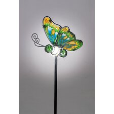 Butterfly Garden Stake with Solar Powered LED