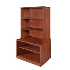 """Sandia 2 Drawer Lateral File with Hutch 55"""" Standard Bookcase"""
