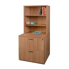 Sandia 2-Drawer Lateral File with Hutch