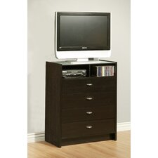 Times Square 4 Drawer Media Chest