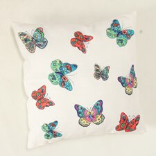 Decorative Butterflies Throw Pillow