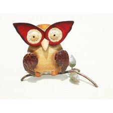 Iron Owl Décor Figurine