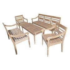 Alwari 5 Piece Bench Seating Group