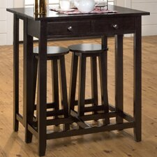 Roasted Java 3 Piece Pub Table Set