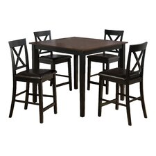 Burly 5 Piece Counter Height Dining Table Set
