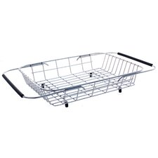 "9.88"" x 13.38"" x 3.13"" Stainless Steel Adjustable Basket"