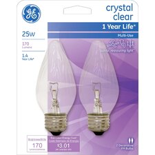 25W Incandescent Light Bulb (Pack of 2)