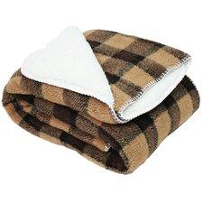 Jacquard Sherpa Fleece Throw Blanket