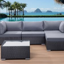 Sano Outdoor 5 Piece Lounge Seating Group with Cushions