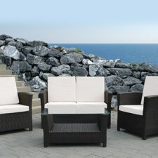 Rimini Outdoor 3 Piece Deep Seating Group with Cushions (Set of 4)