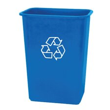 10.25-Gal Recycling Wastebasket Recycling