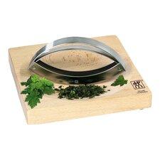 Mincing Knife & Bamboo Board Set