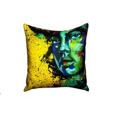 'Blue Eyed Girl' Throw Pillow
