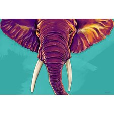 'Elephant in the Room' Animal Graphic Art on Wrapped Canvas
