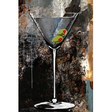 'Martini Glass' Bar Graphic Art on Wrapped Canvas