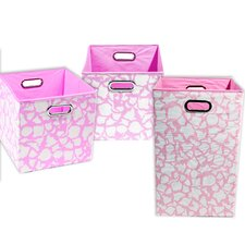 Rose Giraffe 3 Piece Organization Bundle Set