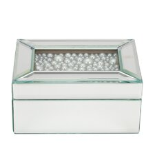 Pearl Top Mirrored Jewelry Box