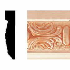 5/8 in. x 3 in. x 8 ft. Hardwood Embossed Victorian Moulding