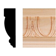 3/4 in. x 2-1/2 in. x 8 ft. Hardwood Emboss Casing/Chair Rail Moulding