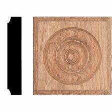 5-1/2 in. x 5-1/2 in. x 1-1/8 in. Oak Rosette Block Moulding