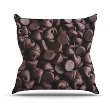 Yay! Chocolate by Libertad Leal Candy Throw Pillow