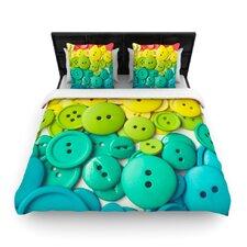 """""""Cute as a Button"""" Woven Comforter Duvet Cover"""
